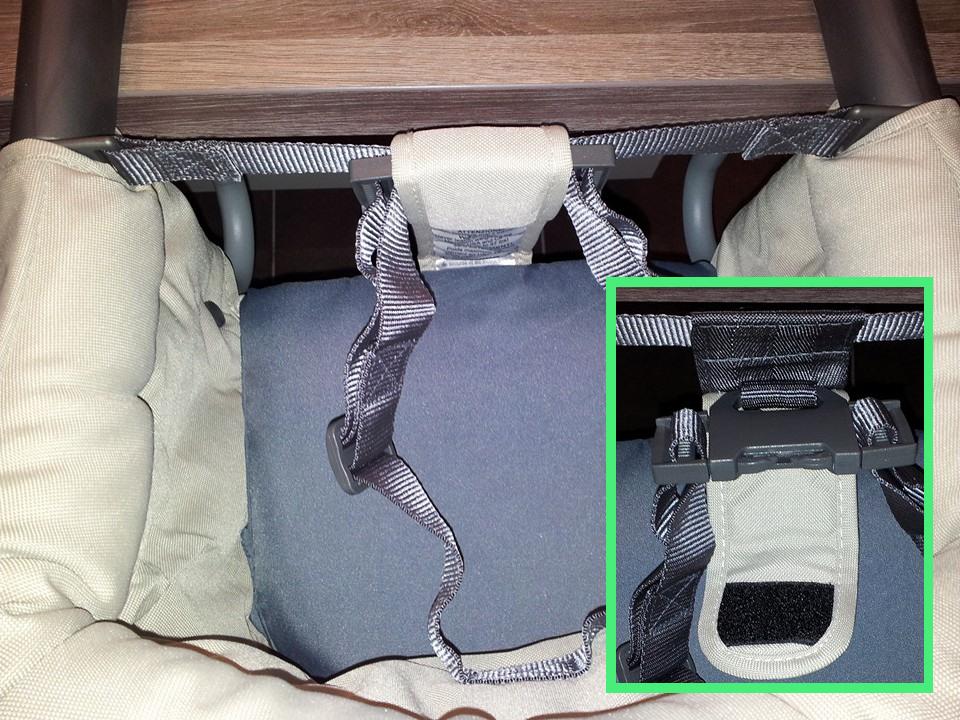 La ceinture de sécurité du siège de table