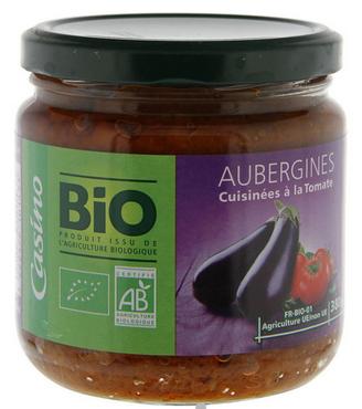 Pot d'aubergines pour la recette de lasagnes sans gluten ni lactose