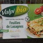 Pâtes au maïs et au riz VALPIBIO pour la recette de lasagnes sans gluten ni lactose